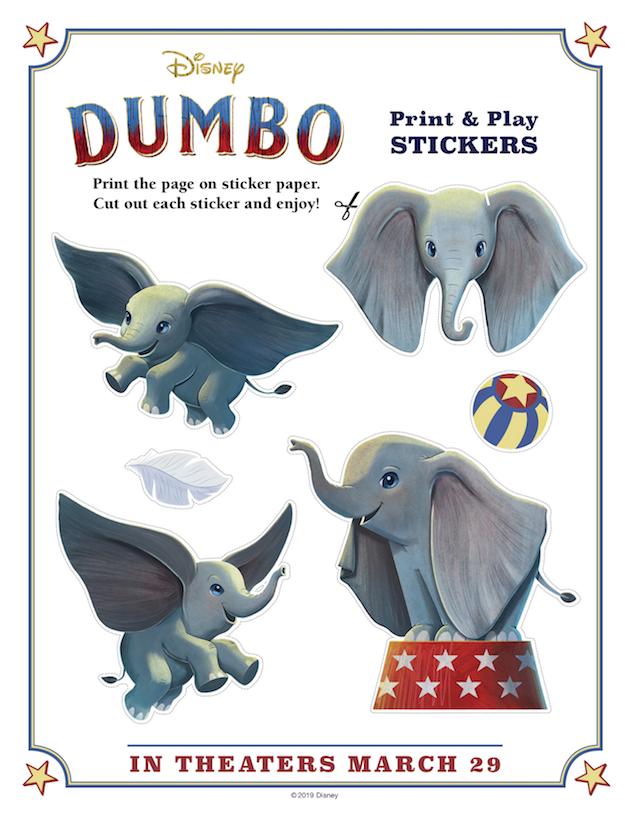 Dumbo Printable Stickers