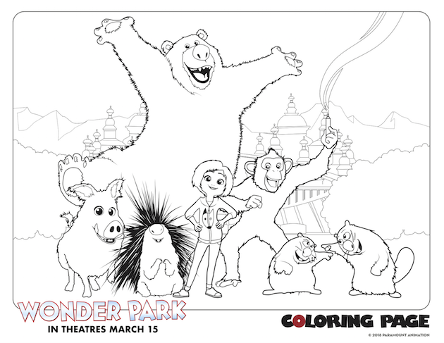 Group Wonder Park Coloring Page