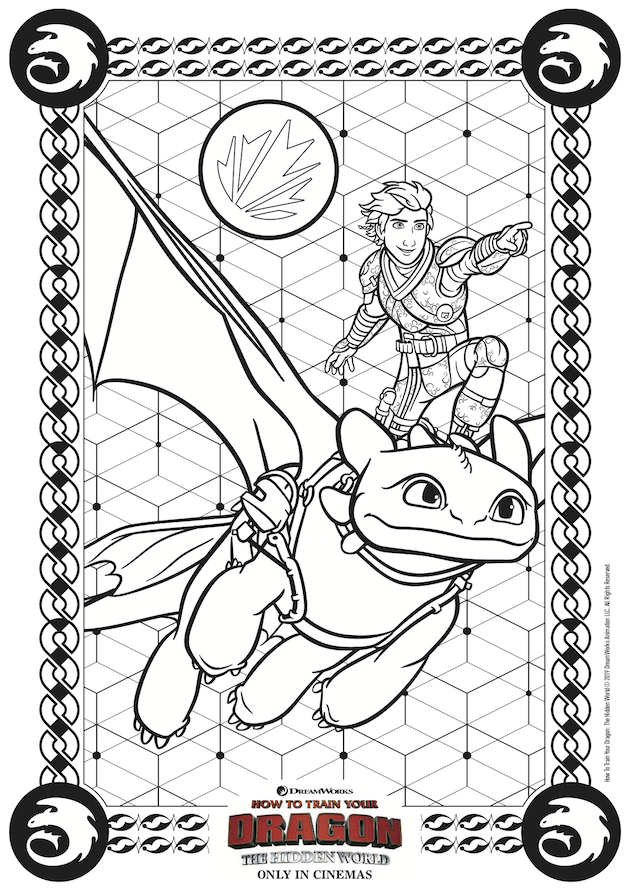 How to Train Your Dragon Coloring Sheet