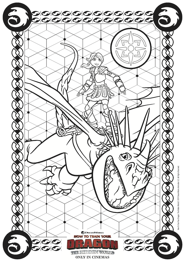 How to Train Your Dragon Hidden World Coloring Page