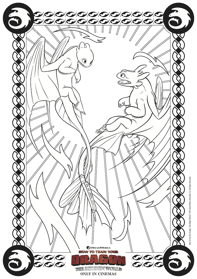 How to Train Your Dragon Hidden World Coloring Pages