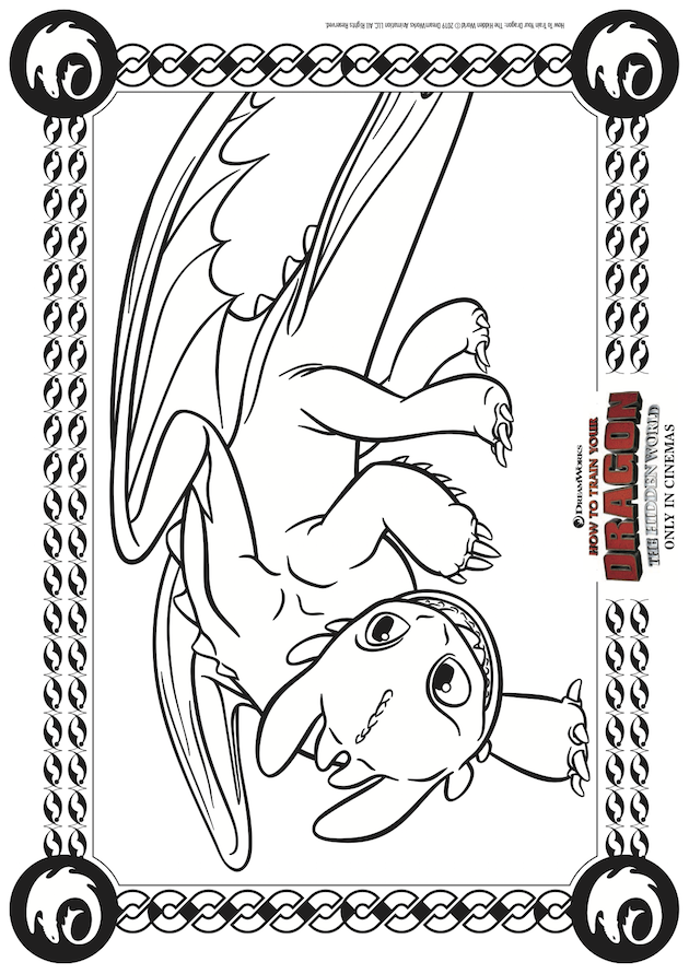 How to Train Your Dragon Hidden World Printable
