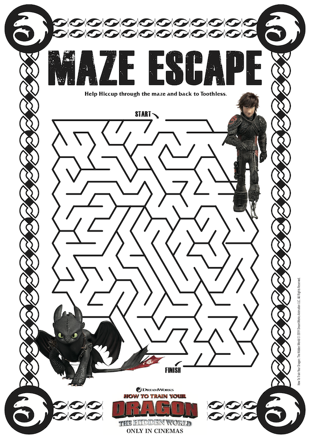 How to Train Your Dragon Maze