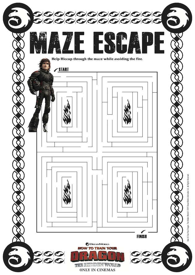How to Train Your Dragon Maze Escape