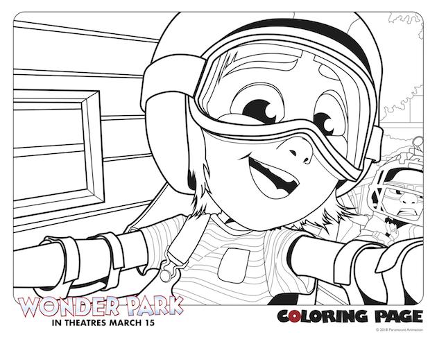 June Selfie Wonder Park Coloring Page