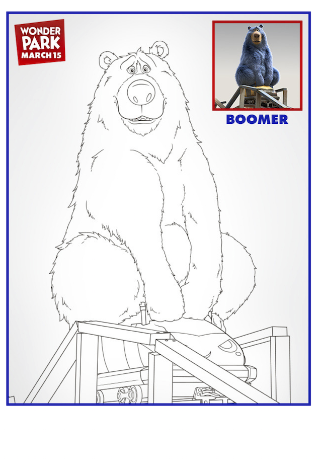 Wonder Park Boomer Coloring Page