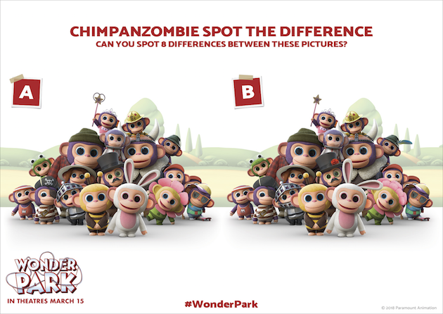Wonder Park Spot the Difference