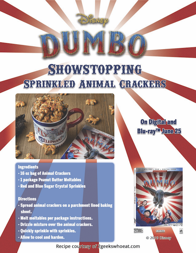 Sprinkled Animal Crackers Recipe - Dumbo