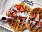 Strawberry Rhubarb Waffles