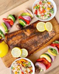 Sugar and Spice Cedar Plank Salmon