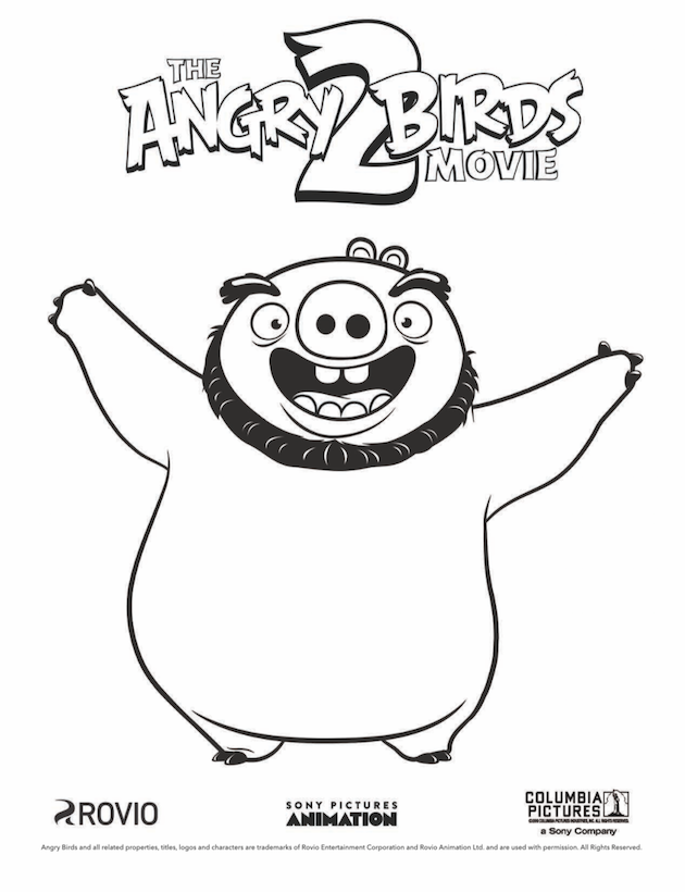Angry Birds Coloring Sheet Pig