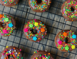 Mini Baked Chocolate Donuts