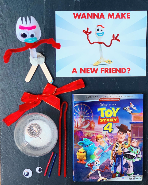 DIY Forky Christmas Ornament Materials