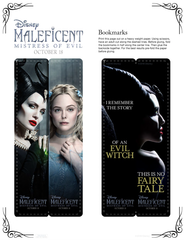 Maleficent Bookmarks