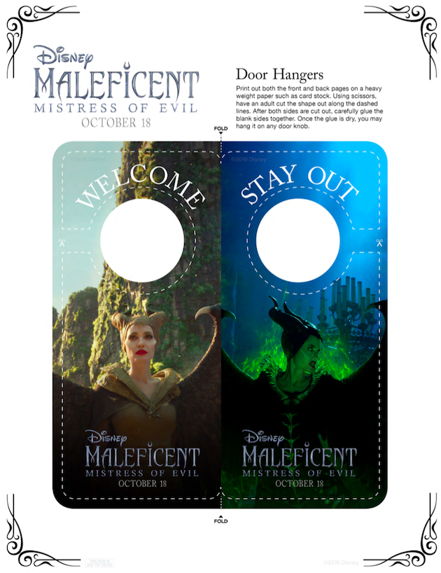Maleficent Door Hangers