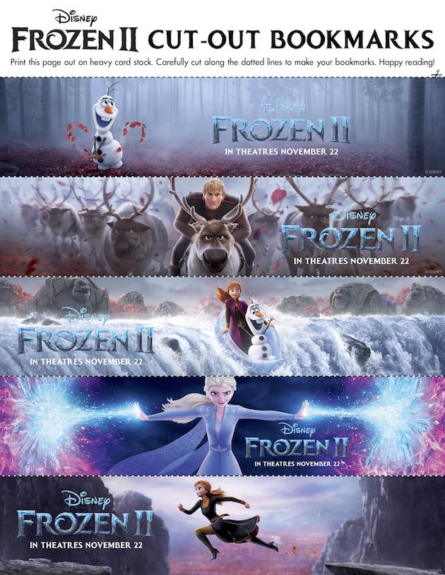 Frozen 2 Bookmarks