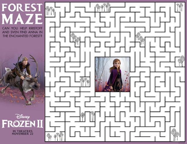 Frozen 2 Forest Maze