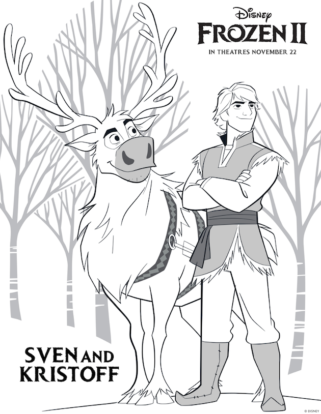Frozen 2 Printable Sven and Kristoff