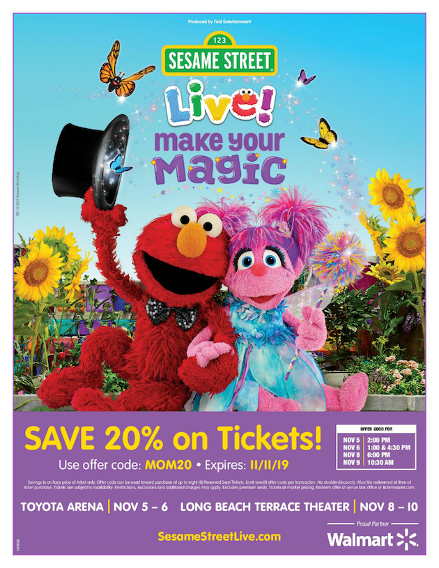 Sesame Street Live Discount Code