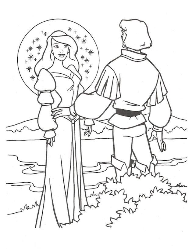 The Swan Princess Coloring Sheet