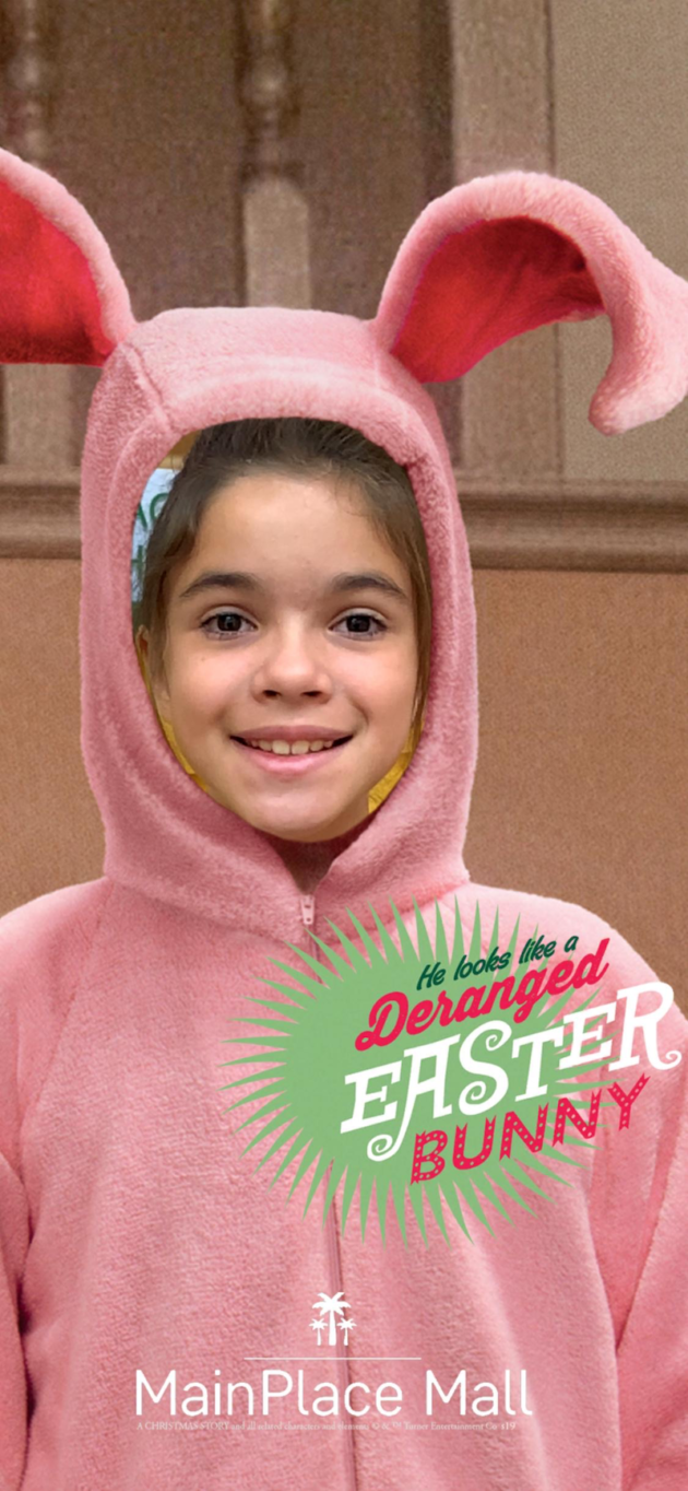 A Christmas Story Pink Bunny PJs