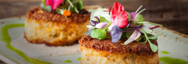 Crab Cakes at Bluewater Grill