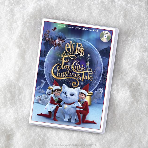 Elf Pets a Fox Cubs Christmas Tale