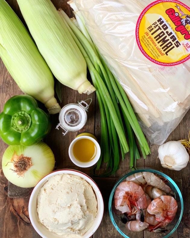 Garlic Shrimp Tamale Recipe Ingredients