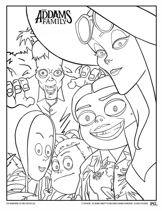 Addams Family Coloring Sheet