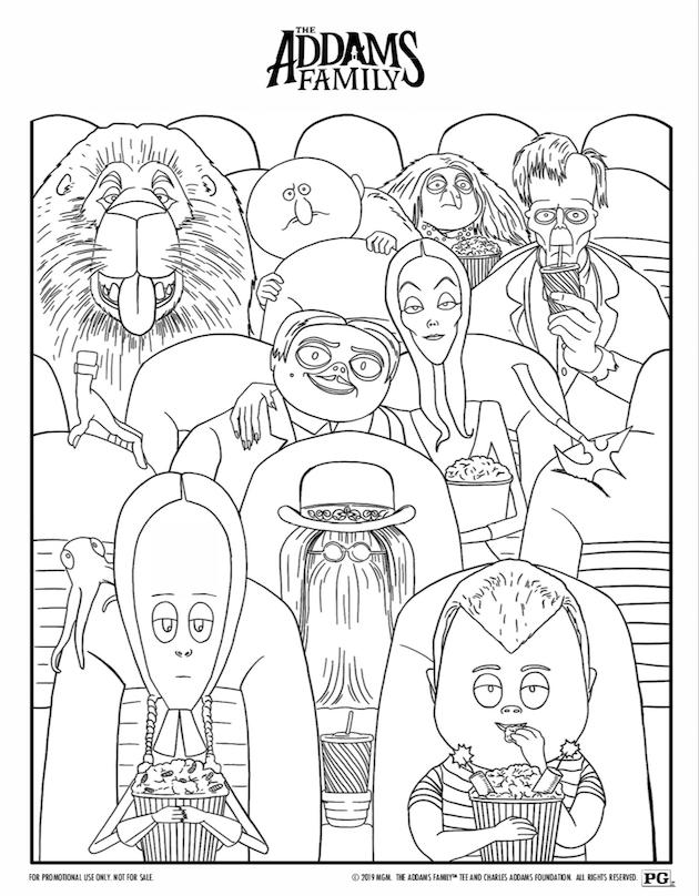 Addams Family Printable Coloring Sheet