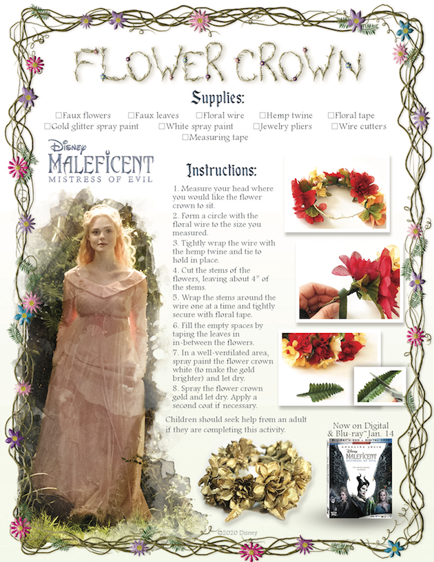 DIY Maleficent Flower Crown