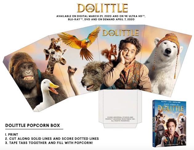 Dolittle Printable Popcorn Box