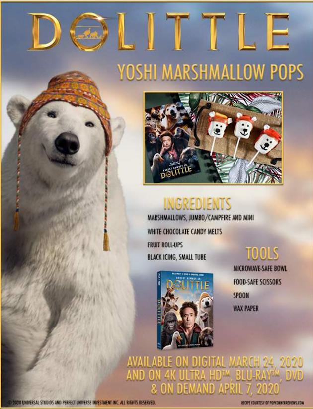 Dolittle Yoshi Marshallow Pops Recipe