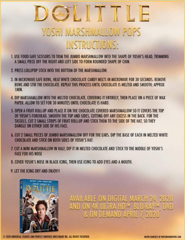 Dolittle Yoshi Marshmallow Pops