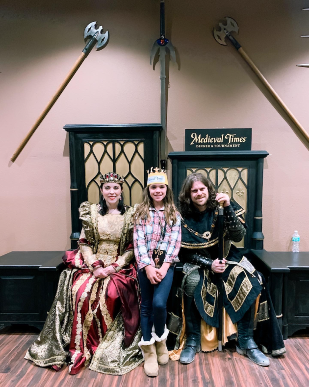 King and Queen at Medieval Times