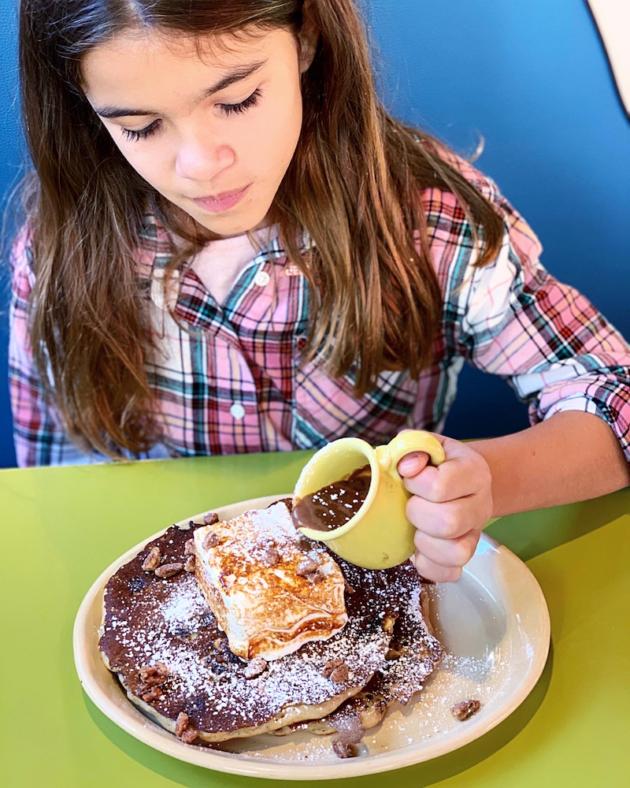 Snooze Hot Cocoa Pancake