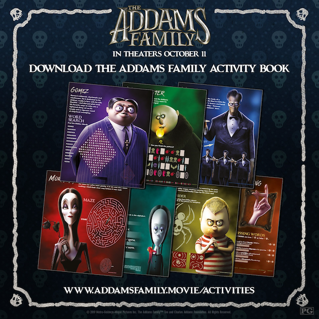 The Addams Family Activity Book