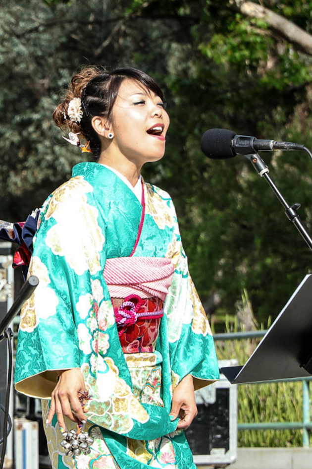 Performer at Cherry Blossom Festival