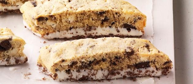 Thin Mints White Chocolate Biscotti