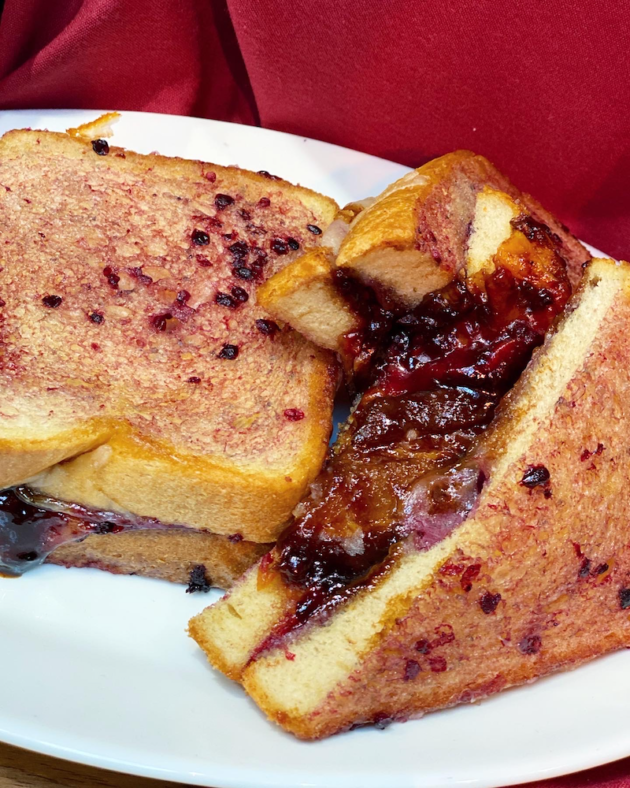Boysenberry Butter Grilled Cheese