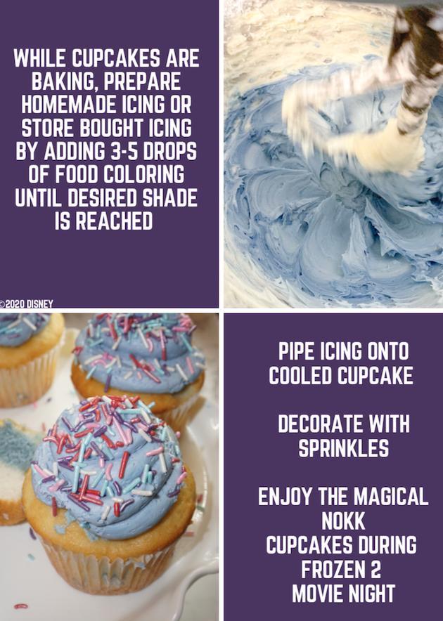 DIY Frozen 2 Cupcakes