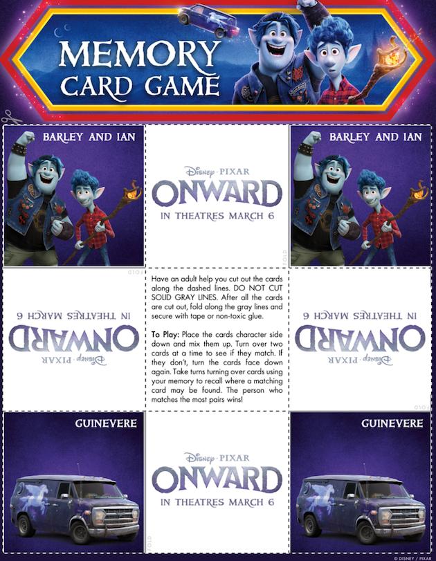 Disney Pixar Onward Memory Game