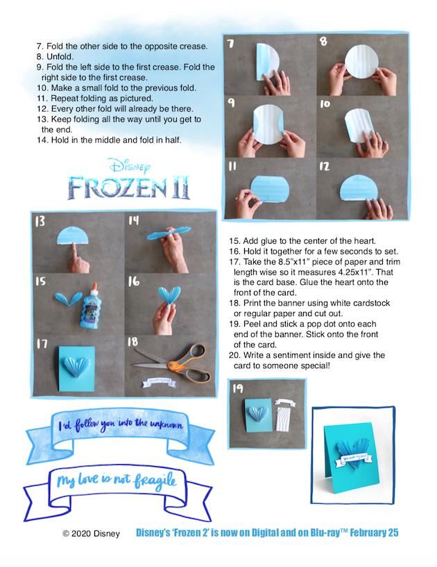 Frozen 2 DIY Paper Heart Valentines