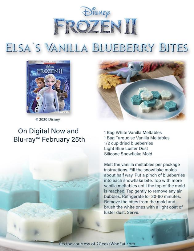 Frozen 2 Elsas Vanilla Blueberry Bites