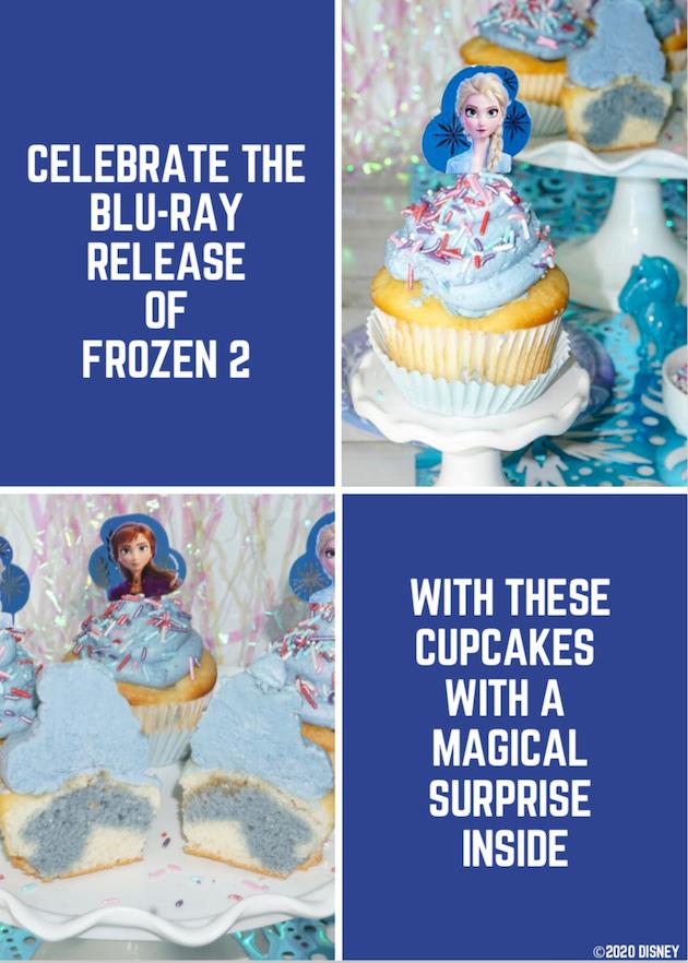 Frozen 2 Surprise Cupcakes