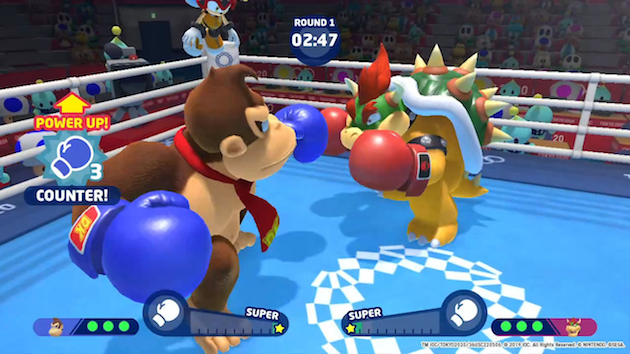 Mario and Sonic at the Olympic Games Boxing