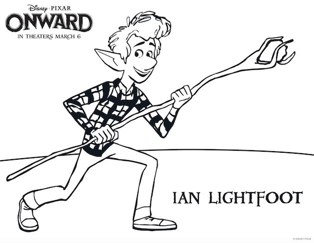 Pixar Onward Printable Coloring Sheet Ian