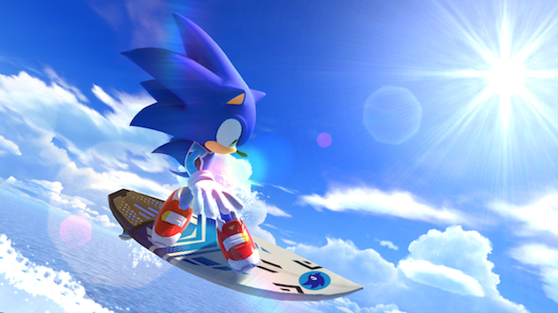 Sonic the Hedgehog Surfing