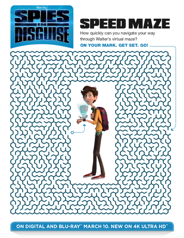 Spies in Disguise Printable Maze