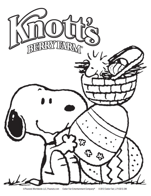 Knotts Berry Farm Spring Coloring Sheet